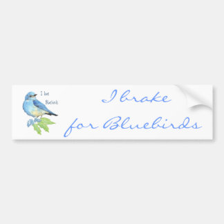I love Bluebirds, Bird Collection Bumper Stickers