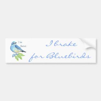 I love Bluebirds, Bird Collection Car Bumper Sticker