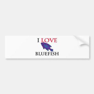 I Love Bluefish Car Bumper Sticker