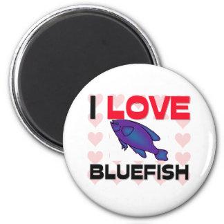 I Love Bluefish 2 Inch Round Magnet