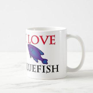 I Love Bluefish Classic White Coffee Mug