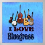 I LOVE BLUEGRASS -POSTER