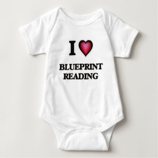 I Love Blueprint Reading Baby Bodysuit