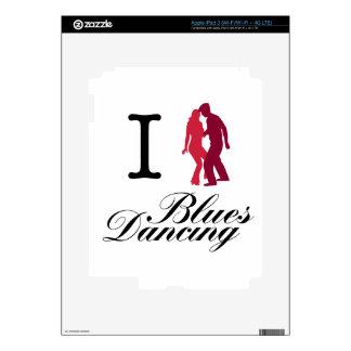 I Love Blues Dancing iPad 3 Decals