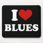 I Love Blues Mouse Pad