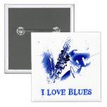 I LOVE BLUES PIN