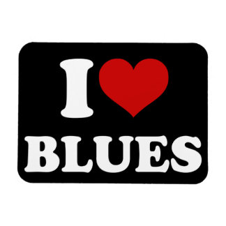 I Love Blues Vinyl Magnets