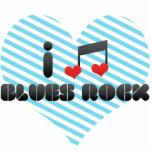 I Love Blues Rock Acrylic Cut Out