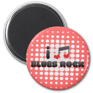 I Love Blues Rock Magnet