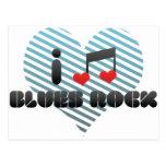 I Love Blues Rock Postcard