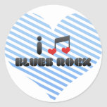 I Love Blues Rock Sticker