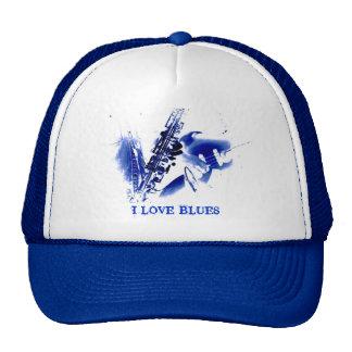 I LOVE BLUES TRUCKER HAT