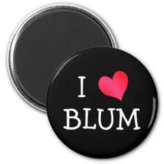 I Love Blum 2 Inch Round Magnet
