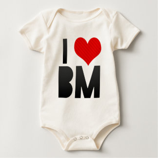 I Love BM Baby Bodysuit