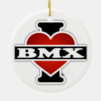 I Love BMX Ceramic Ornament