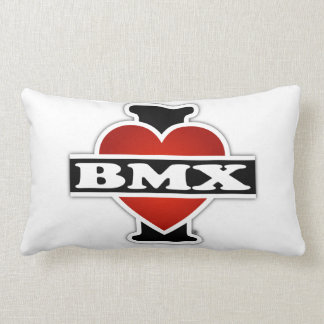 I Love BMX Lumbar Pillow