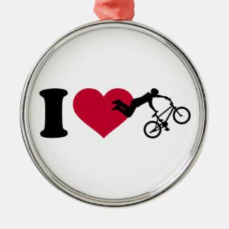 I love BMX Metal Ornament