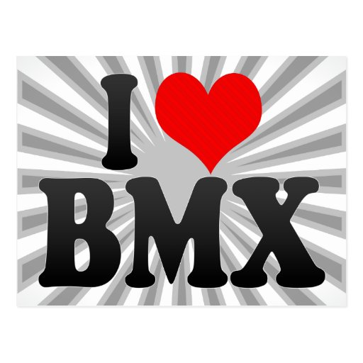 I love BMX Postcard