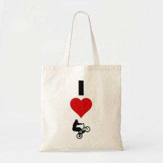 I Love BMX (Vertical) Tote Bag