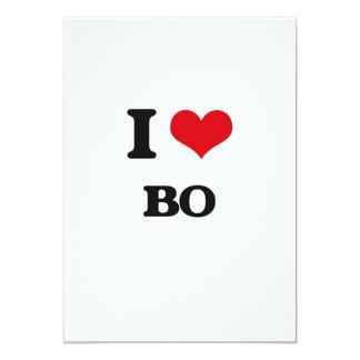I Love Bo 5x7 Paper Invitation Card