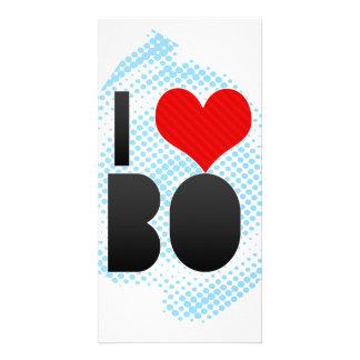 I Love BO Personalized Photo Card