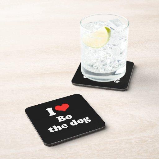 I LOVE BO THE DOG.png Coasters