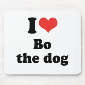 I LOVE BO THE DOG - .png Mouse Pad