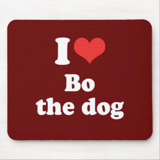I LOVE BO THE DOG - .png Mouse Pads
