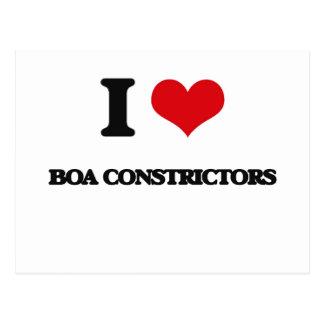 I Love Boa Constrictors Postcard