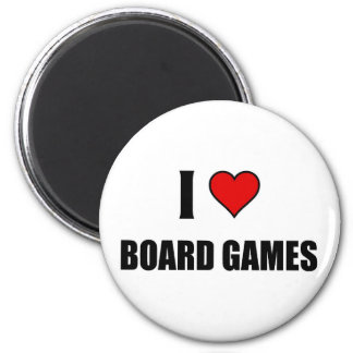 I love Board Games 2 Inch Round Magnet