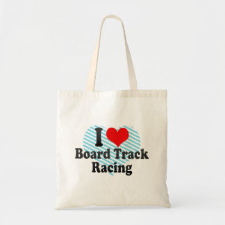 I love Board Track Racing Canvas Bags