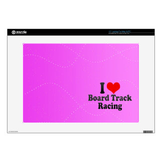 I love Board Track Racing Laptop Decal