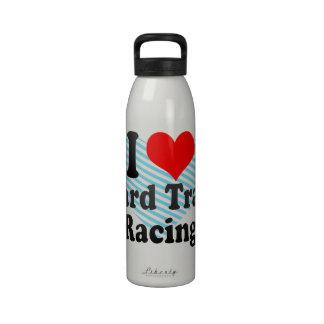 I love Board Track Racing Water Bottle