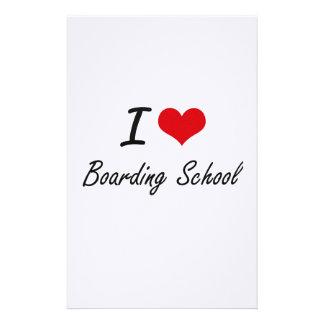 I Love Boarding School Artistic Design Stationery