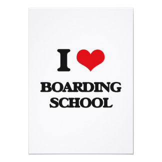 I Love Boarding School 5x7 Paper Invitation Card