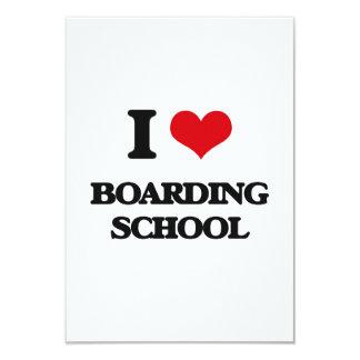 I Love Boarding School 3.5x5 Paper Invitation Card