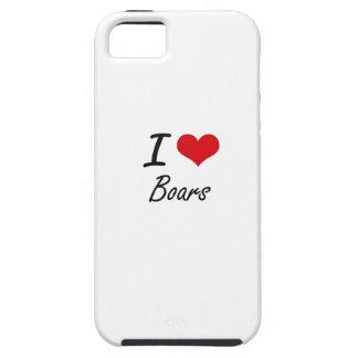 I Love Boars Artistic Design iPhone 5 Cases
