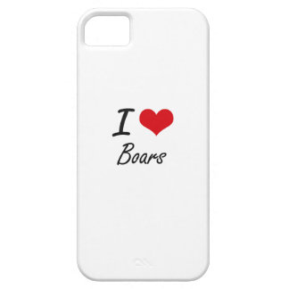 I Love Boars Artistic Design iPhone 5 Cover