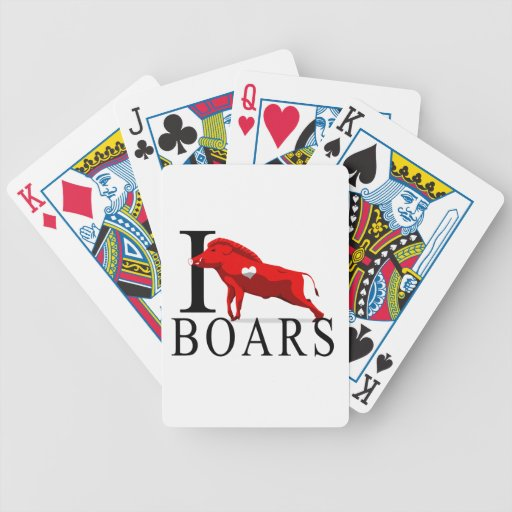 I Love Boars Bicycle Playing Cards