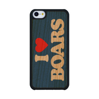 I LOVE BOARS CARVED® CHERRY iPhone 5C SLIM CASE