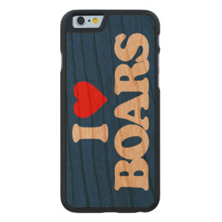 I LOVE BOARS CARVED® CHERRY iPhone 6 SLIM CASE
