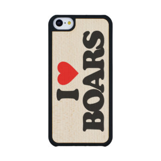 I LOVE BOARS CARVED® MAPLE iPhone 5C CASE