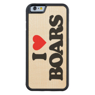 I LOVE BOARS CARVED® MAPLE iPhone 6 BUMPER