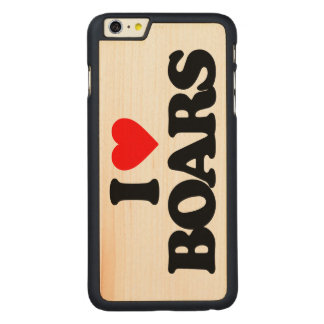 I LOVE BOARS CARVED® MAPLE iPhone 6 PLUS SLIM CASE