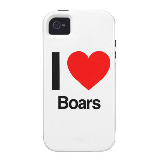 i love boars Case-Mate iPhone 4 cases