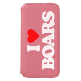 I LOVE BOARS INCIPIO WATSON™ iPhone 6 WALLET CASE