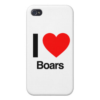 i love boars iPhone 4/4S cases