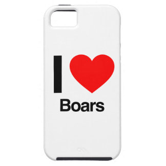 i love boars iPhone 5 cover