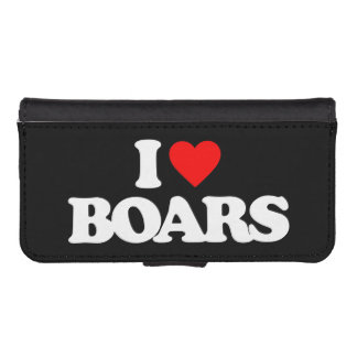 I LOVE BOARS iPhone 5 WALLET CASE