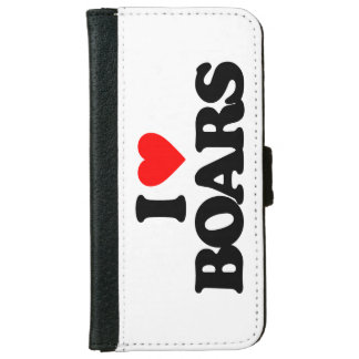 I LOVE BOARS iPhone 6 WALLET CASE